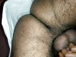 Indian lady groaning while plowed from reject