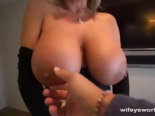 Her Boobs Juggle and She Guzzles Usually Droplet