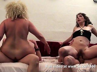 Regina and a friend banged by few cocks