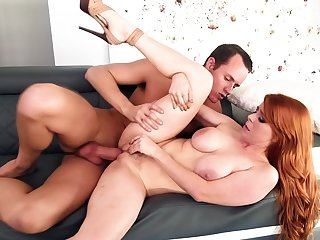 Ravishing redhead Penny Pax loves chubby cock sex