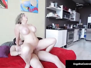 Cuban Hotshot Angelina Castro Pummels & Inhales Sara Jay's Stud!