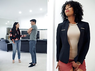 Ebony terra firma agent fucked client