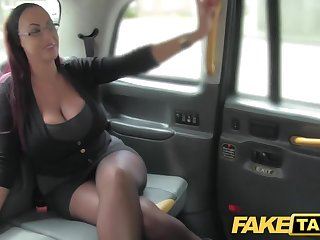 Fake Taxi Secretary looking little one with effectively tits and wet face to face