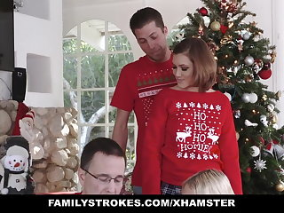 FamilyStrokes - Fucking My Sis During Beanfeast Christmas Pics