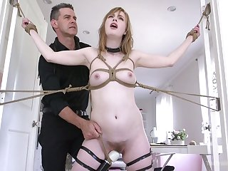 Uninhibited slender hoe Dolly Leigh gets a mistake round experience special bondage