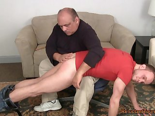 Grey challenge ass spanks young twink winning anal sex
