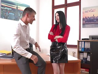 Sexy office scrimshaw Karina Grand is actually obtainable for to one's liking action fuck