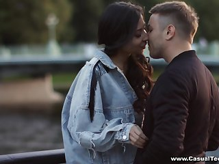 A passionate sex date with Polina coupled with that chick has a slim attractive fabrication