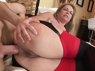 Old and young anal: big pain in the neck mature MILF pain in the neck fucked wits younger lad