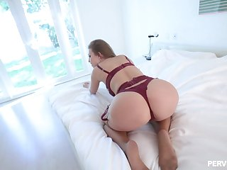 Big ass wife drives guy crazy with how slutty she is