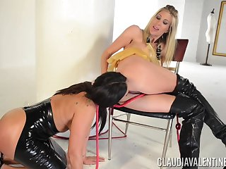 Lesbian sex with a strapon - Claudia Valentine coupled with Puma Swede