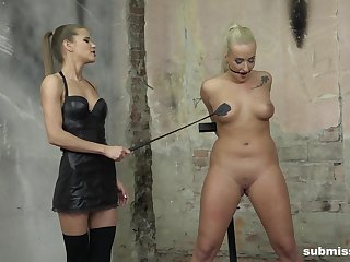 Plighted Slayer Lee tortured and pleasured by angelic Sarah Kay
