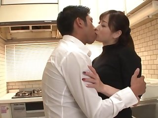 Japanese wife pleases hubby with sex shortly he returns dwelling