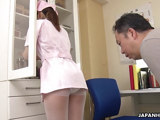 The pressure increased because of Japanese inviting young nurse Anna Kimijima