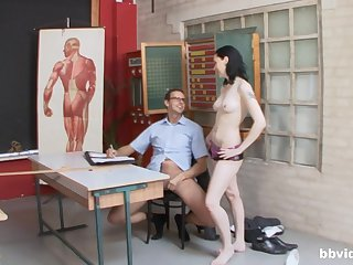 Hard lovemaking down at a difficulty office with a group of hot battalion