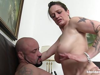 Chubby mature German wife sucks and gets fucked apart from a stranger