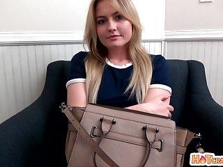 Slutty blonde Britney Light teases and enjoys having nice sex