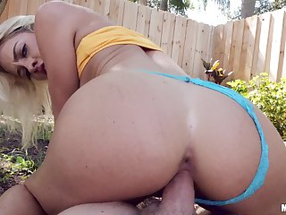 POV personal space horse-racing fuck with reference there Khloe Kapri, as her sexy thong is pulled there the friend