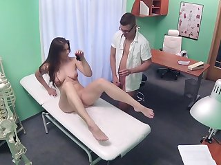 Smooth fucking on the hospital bed with handsome Ellie Springlare
