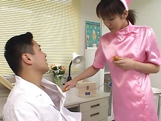 Naughty Japanese nurse Shino Isshiki opens her legs to repugnance fucked