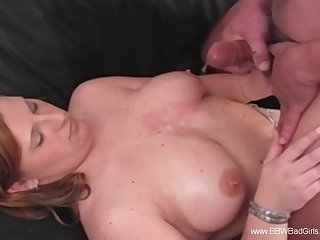 Accidental Cumshot For Horny BBW Amateur Arousement