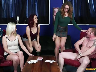 Be experiencing females allotment cock beside charming CFNM shag